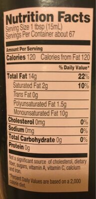 Trader giotto's, olive oil - Nutrition facts - en