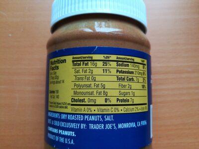 crunchy salted peanut butter stir - Informations nutritionnelles