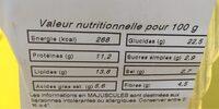 Club Rosette - Informations nutritionnelles - fr