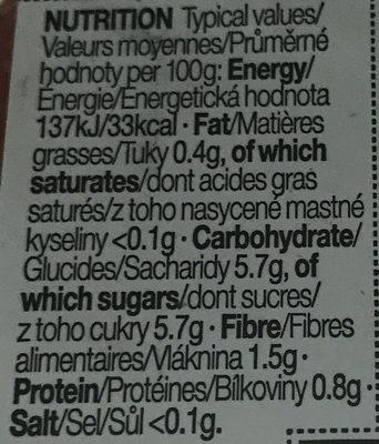 Fraises, framboises & mûres - Voedingswaarden