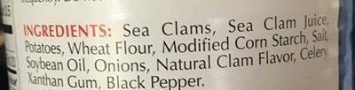 clam chowder - Ingredients