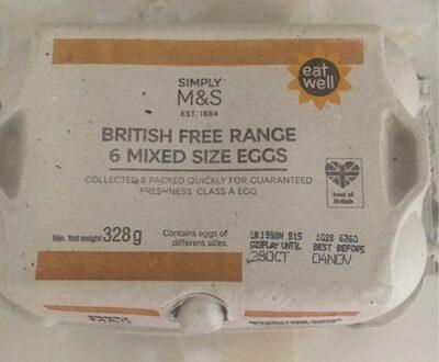 Free range mixed size eggs - Product