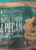 4 Indulgent & Chewy Maple Syrup & Pecan Giant Cookies - Product - fr