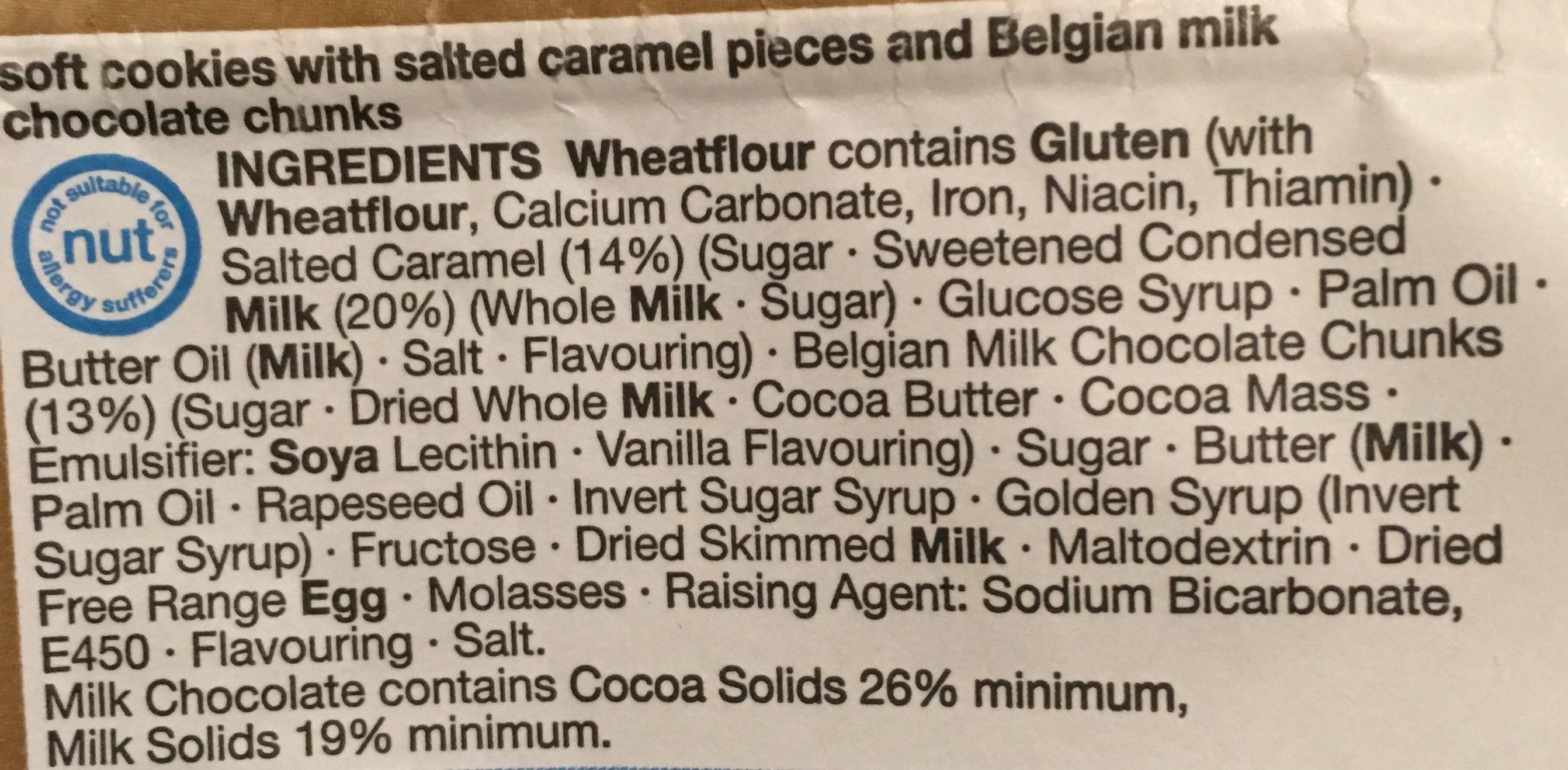 Salted caramel & belgian milk - Ingrediënten - en