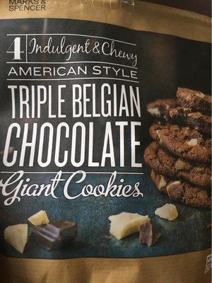 Giant cookies triple belgian chocolate - Product