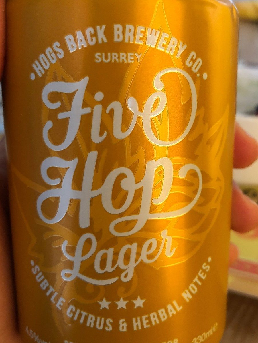 Five hop lager beer - Product