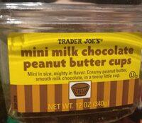 Mini milk chocolate peanut butter cups - Product
