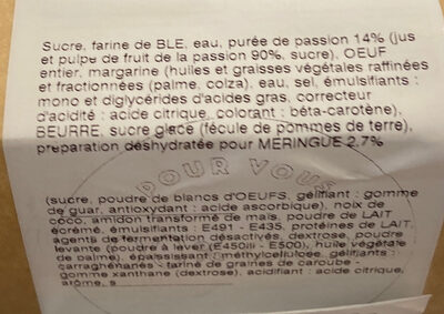 Tarte passion meringuée - Ingrédients - fr