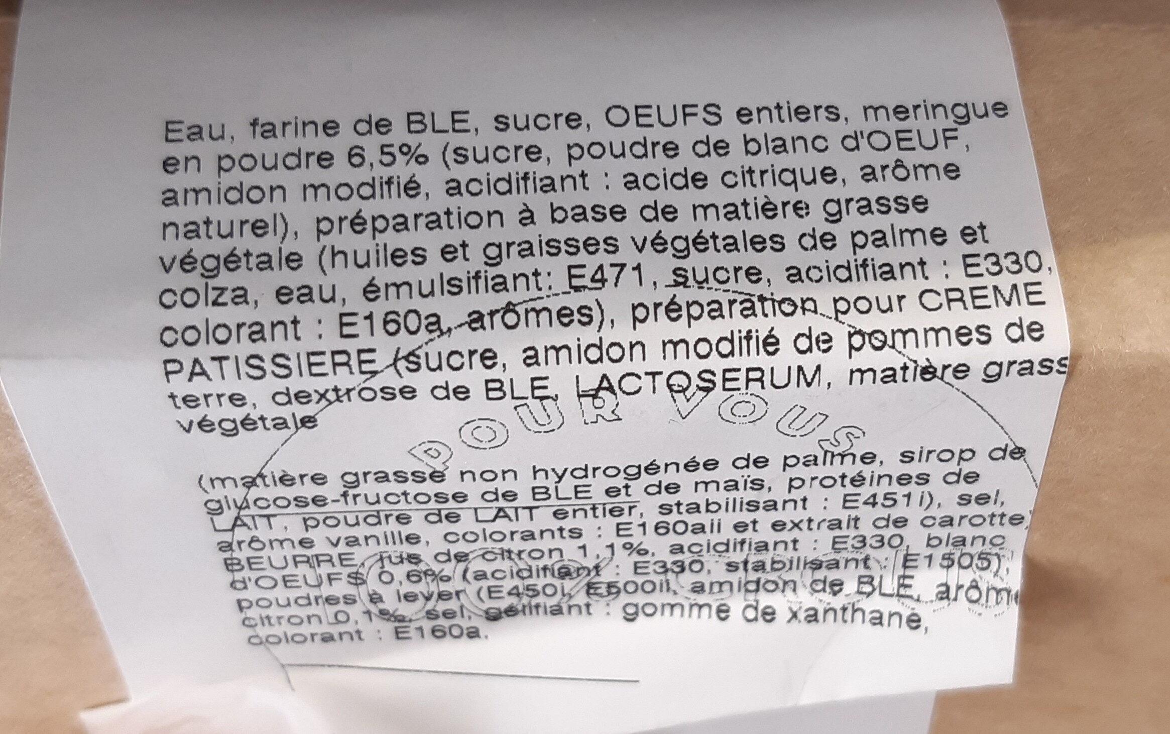 Tarte citron meringuée - Ingrediënten - fr