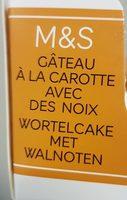 Gâteau à la Carotte avec des Noix - Product