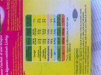Pur Soup' Velouté de légumes - Informations nutritionnelles