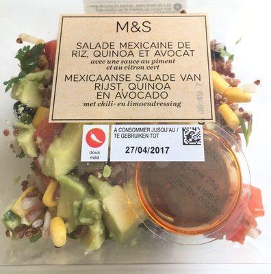 Salade à la Mexicaine au Maïs doux, Poivrons, Riz et Avocat - Produit