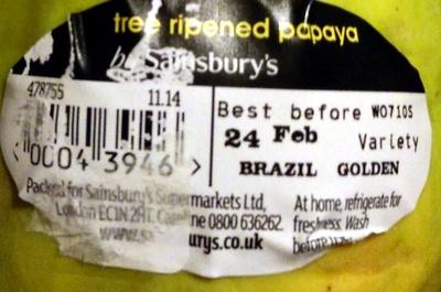 tree ripened papaya - Produit - en