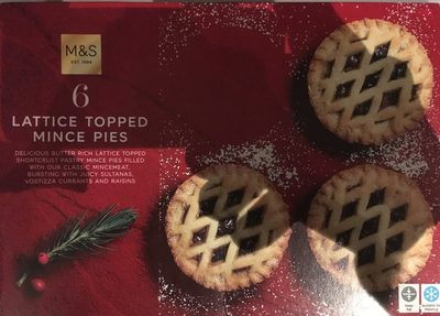 Lattice Topped Mince Pies - Product