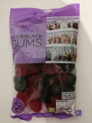 Red & Black gums - Produit