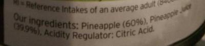 Pineapple slices in juice - Ingredients