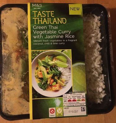 Green thai vegetable curry - Product
