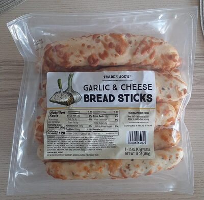 8 Garlic & cheese bread sticks - Product - en