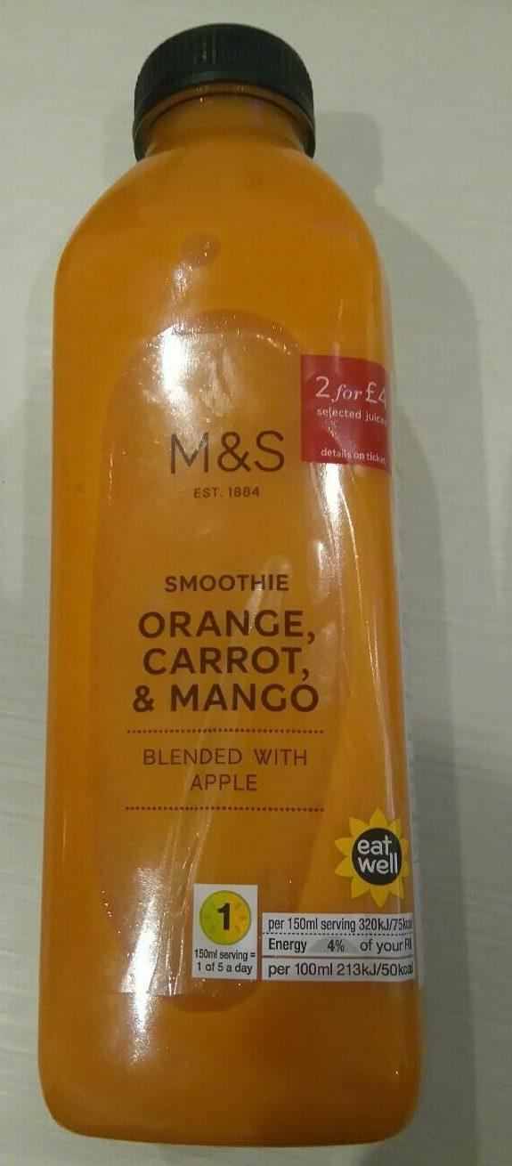 Smoothie Orange, Carrot & Mango - Produit