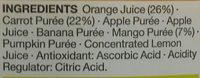 Smoothie Orange, Carrot & Mango - Ingrédients