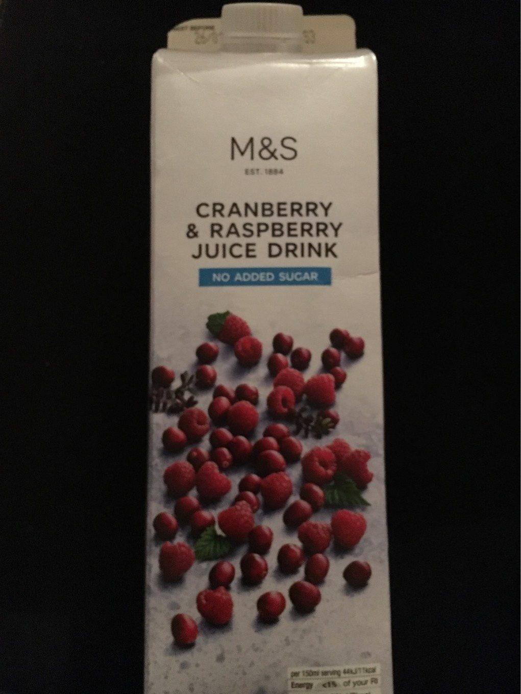 CRANBERRY & RASPERRY JUICE DRINK - Produit - fr