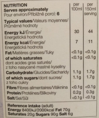 CRANBERRY & RASPERRY JUICE DRINK - Informations nutritionnelles - fr