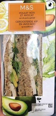 Sandwich Poulet Rôti & Avocat - Produit