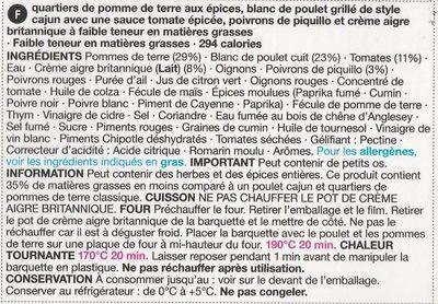 grilled Cajun chicken breast, spicy wedges & sour cream - Ingrediënten - fr