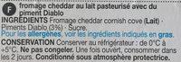 Cornish Cove Cheddar - Ingredients