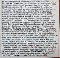 Hoisin duck noodles - Ingredients