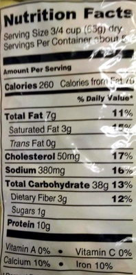 Tortellini - Nutrition facts