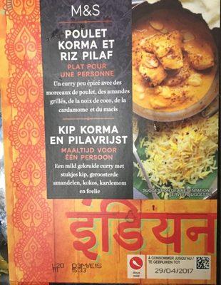 Poulet Korma & Riz Pilaf - Product - fr