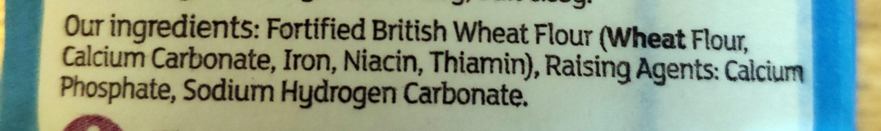 British Self Raising Flour - Ingrédients - en