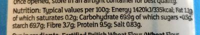 British Self Raising Flour - Informations nutritionnelles - en