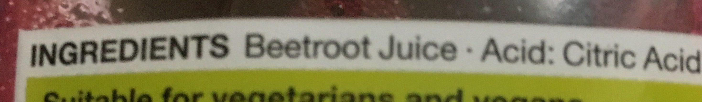 Beetroot juice - Ingredients