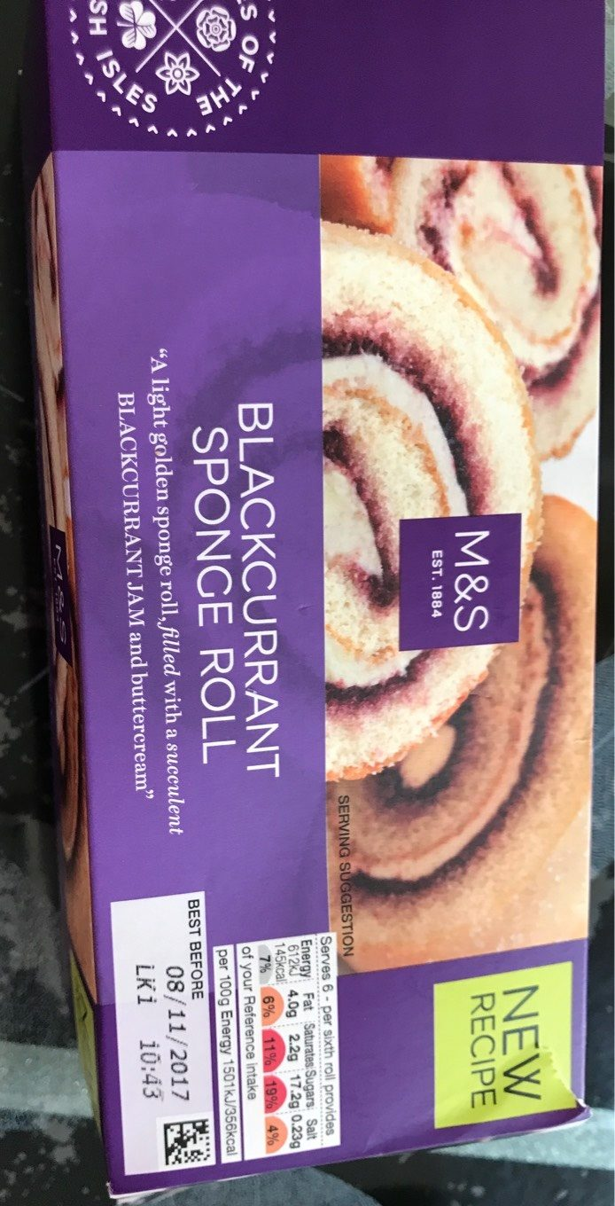 Blackcurrant sponge roll - Product