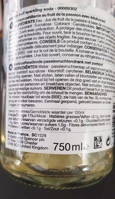 Passion Fruit Soda - Ingrediënten