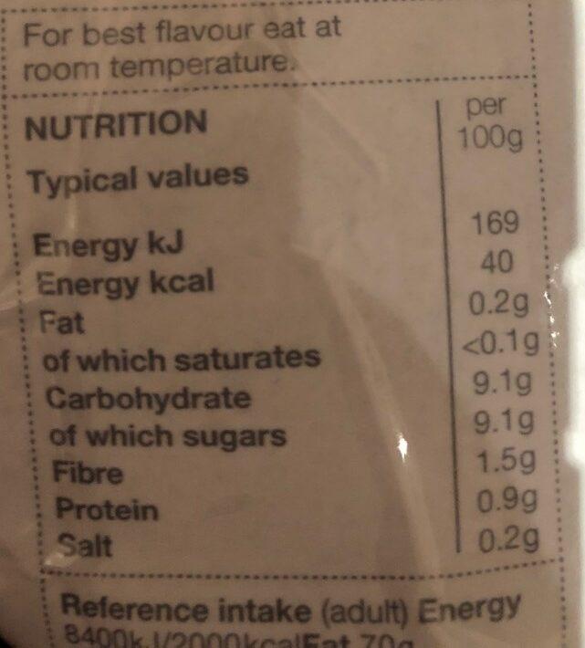 Blueberries crips & Juicy - Voedingswaarden - en