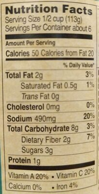 Marinara sauce - Nutrition facts