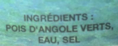 Pois d'angole - Ingrédients