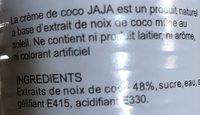 Creme de coco - Ingrediënten - fr