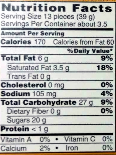 Chocolate and caramel candy - Nutrition facts - en