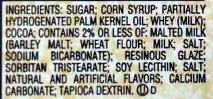 Whoppers - Ingredients