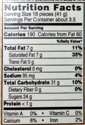 The original malted milk balls - Nutrition facts - en