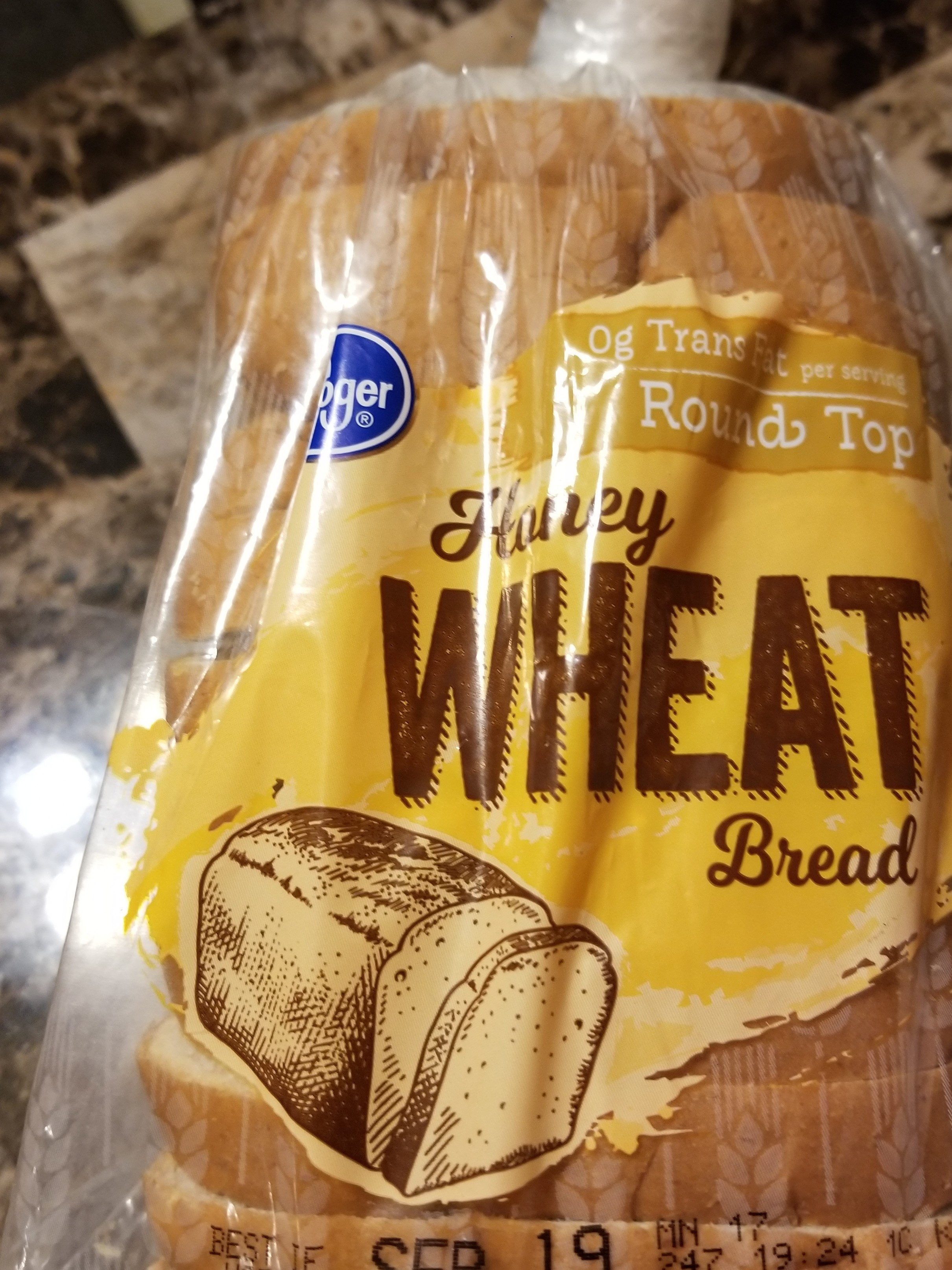 Round top honey wheat bread - Product - en