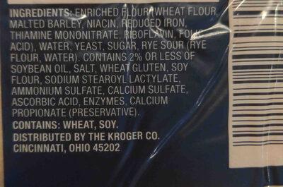 Private Selection Extra Large Sourdough Sandwich Buns - Ingredients - en