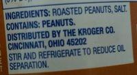 Kroger, crunchy peanut butter - Ingrediënten - en