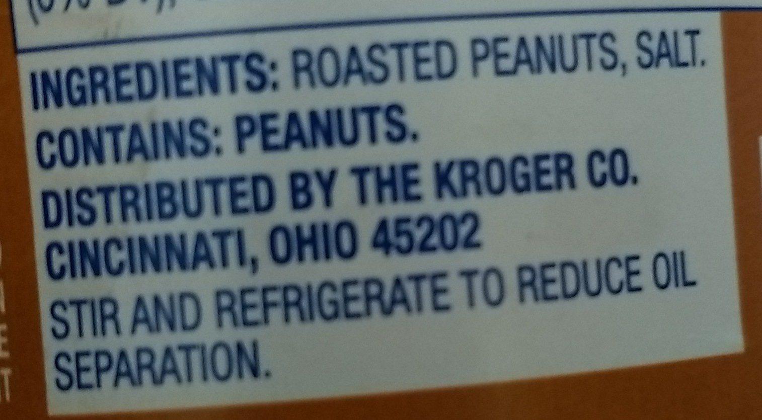 Kroger, crunchy peanut butter - Ingrédients - fr