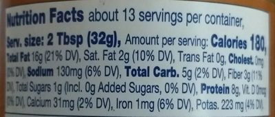 Kroger, crunchy peanut butter - Informations nutritionnelles - fr