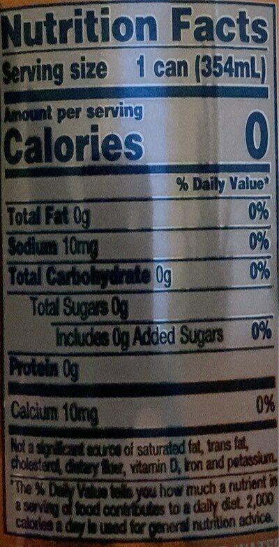 seltzer water - Valori nutrizionali - en